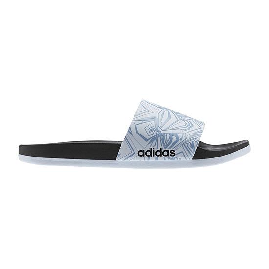 detailed pictures 5396b c01d6 adidas Adilette Cloudfoam+ GR Womens Slide Sandals JCPenney