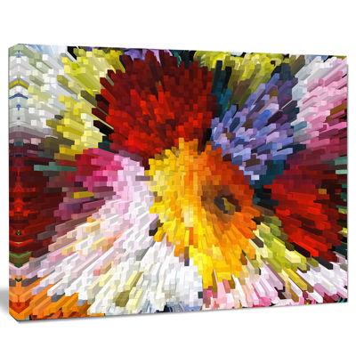 Designart Extrusive 3D Fabric Flowers Canvas Art Print