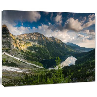 Designart Summer At Polish Tatra Mountains Landscape Canvas Art Print