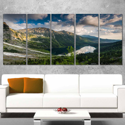 Designart Summer At Polish Tatra Mountains Landscape Canvas Art Print - 5 Panels