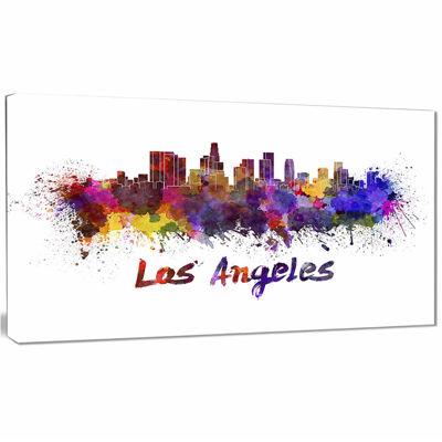 Designart Los Angeles Skyline Cityscape Canvas Artwork Print