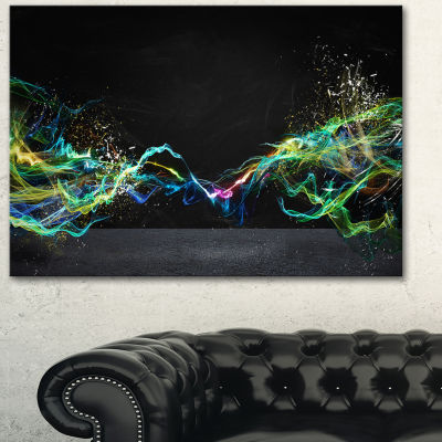Design Art Abstract Motion Banner Contemporary Canvas Art Print