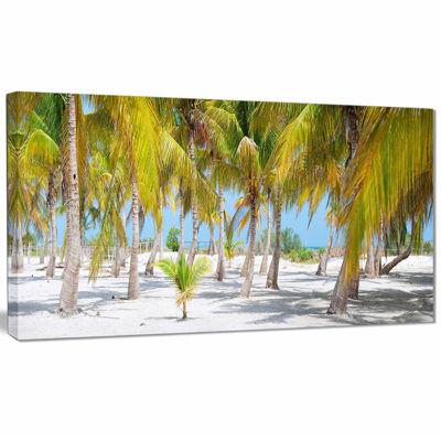 Designart Palm Trees Landscape Photography CanvasArt Print