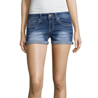 "Hydraulic 2 1/2"" Denim Shorts-Juniors"