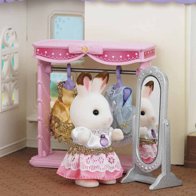 Calico Critters - Dressing Area Set with Bell Hopscotch Rabbit