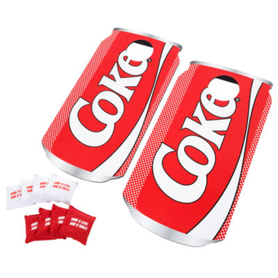 Hey! Play! Coca Cola Cornhole Outdoor Game Set