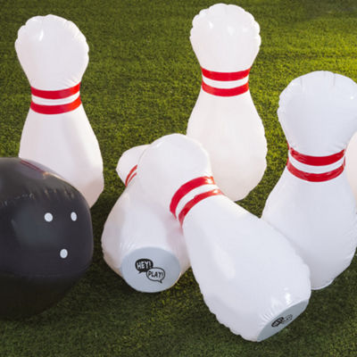 Hey! Play! Kids Giant Inflatable Bowling Set