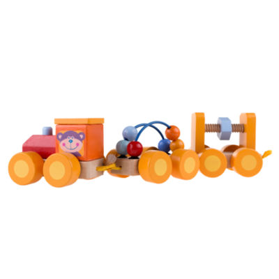 Hey! Play! Wooden Interactive Learning Toy Train