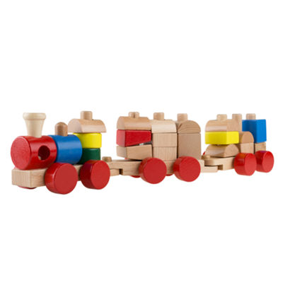 Hey! Play! Wooden Toy Stacking Learning Toy Train