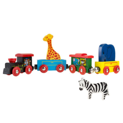 Hey! Play! Wooden Toy Magnetic Learning Toy Train