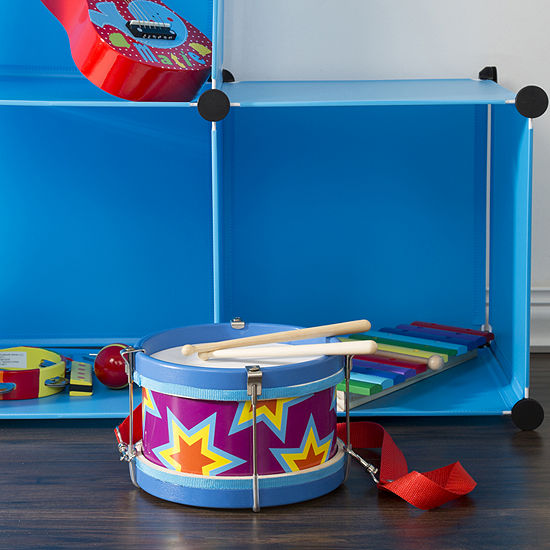 Hey! Play! Double-sided Toy Drum with Strap