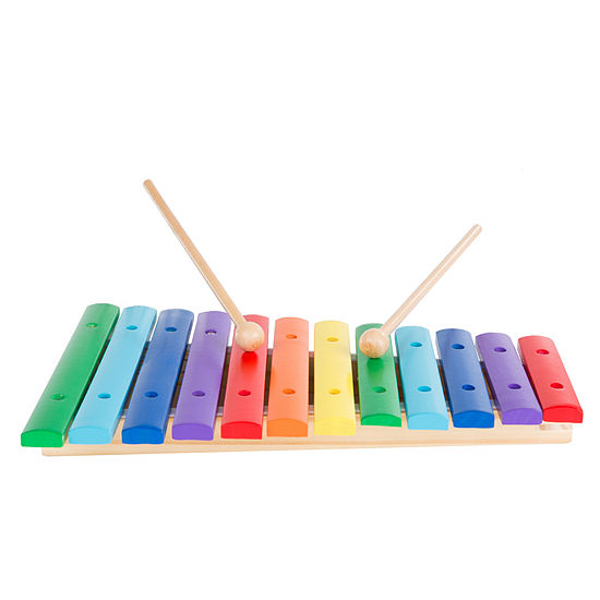 Hey! Play! 2-Note Wooden Xylophone Toy