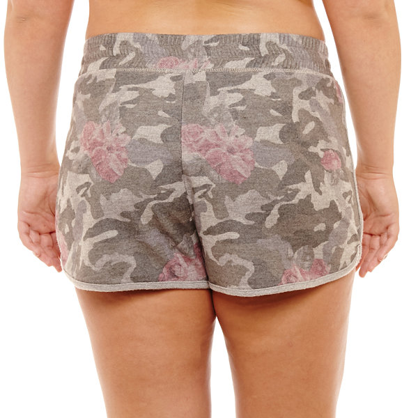 Inspired Hearts Fleece Soft Shorts-Juniors Plus