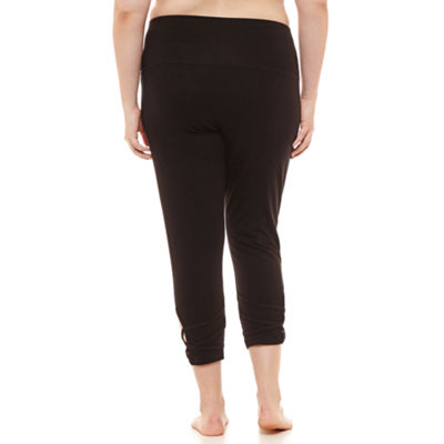 Flirtitude Mid Rise Juniors Plus Workout Capris