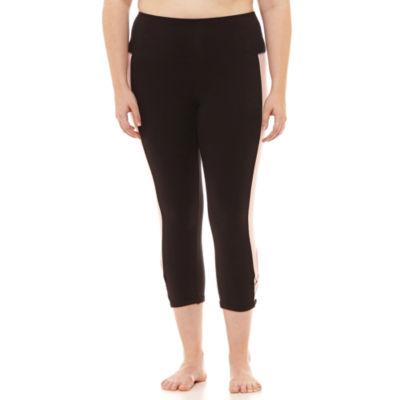Flirtitude Jersey Workout Capris-Juniors Plus