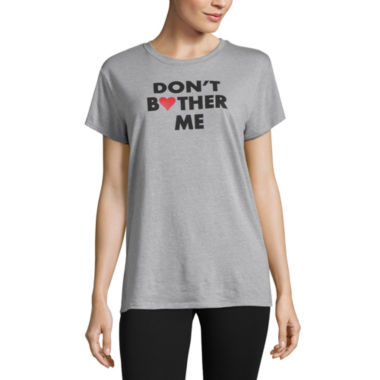 "City Streets ""Don't Bother Me"" Graphic T-Shirt- Juniors"