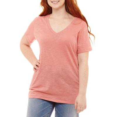 Arizona Short Sleeve T-Shirt-Womens Juniors Plus
