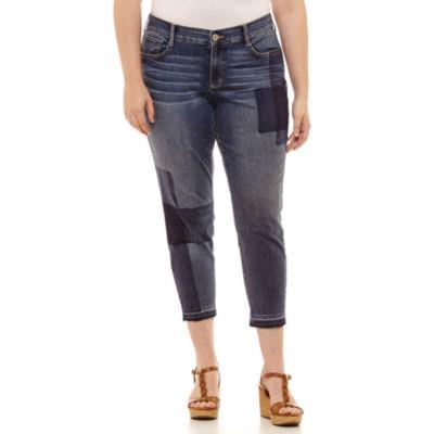 Arizona Skinny Fit Ankle Jean-Juniors Plus