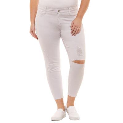 Arizona Skinny Fit Ankle Pants-Juniors Plus