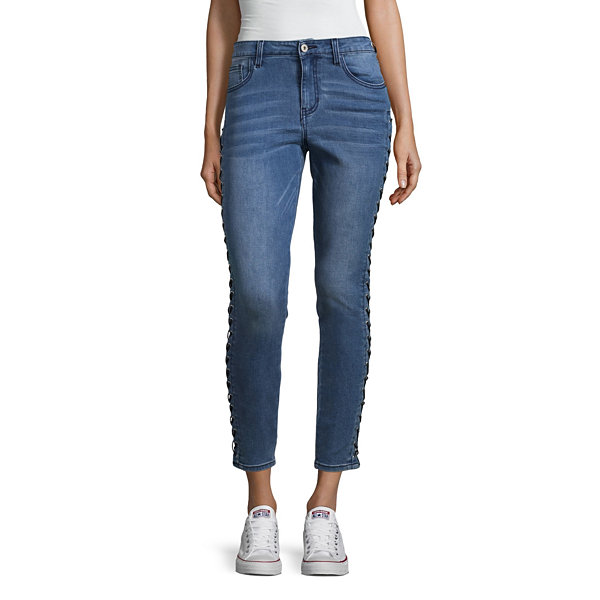 Arizona Lace Up Skinny Fit Jeans-Juniors