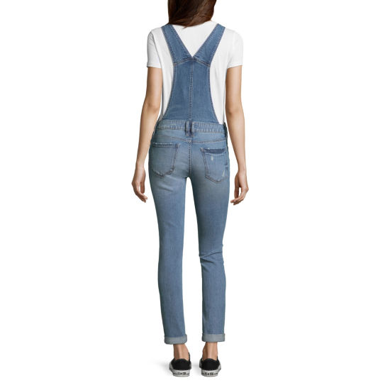 Arizona Sleeveless Overalls-Juniors