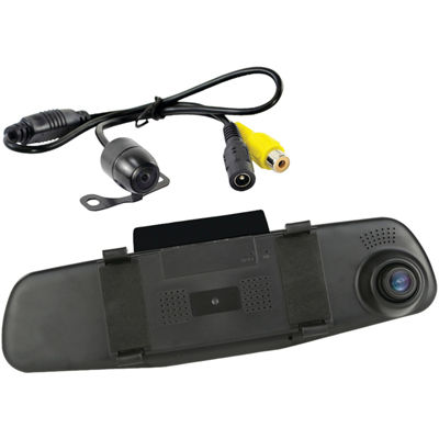 Pyle PLCMDVR47 HD DVR Dash Cam & Rearview Camera System with Dual Cameras
