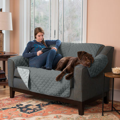 Great Bay Home Reversible Quilted Loveseat Protector