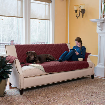 Great Bay Home Reversible Quilted Sofa Protector