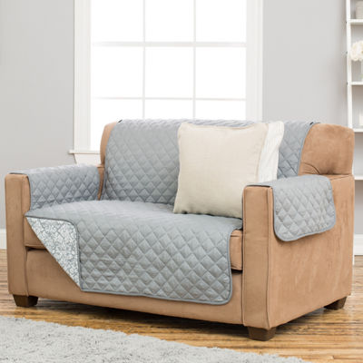 Katrina Collection Deluxe Reversible Quilted Loveseat Protector