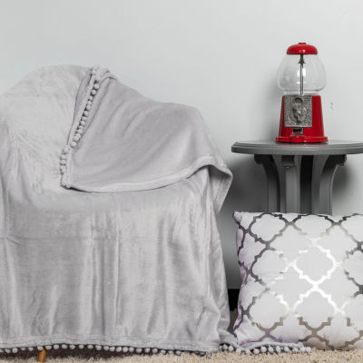 Lala + Bash Oria Pompom Trim Throw