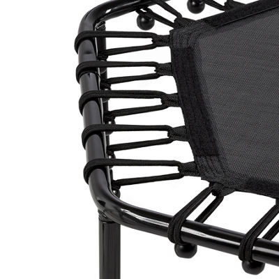 "Upper Bounce 40"" Hexagonal Fitness Mini-Trampoline - T-Shaped Adjustable Hand Rail - Bungee Cord Suspension"