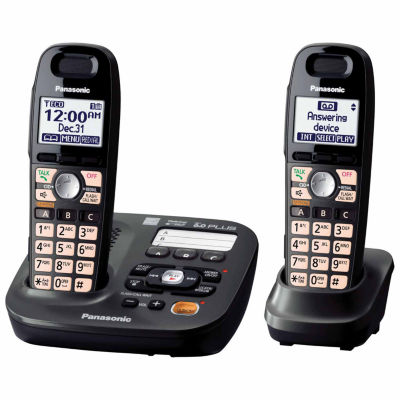 Panasonic KX-TG6592T DECT 6.0+ Expandable Digital Cordless Answering System with 2 Handsets