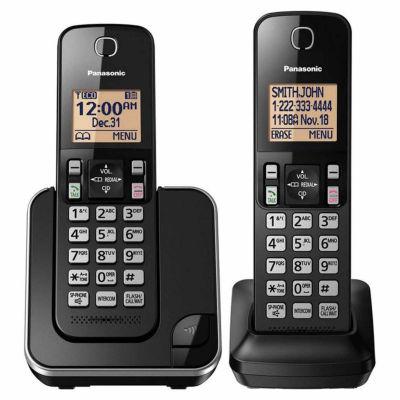 Panasonic KX-TGC352B DECT 6.0 Expandable Cordless Phone with 2 Handsets