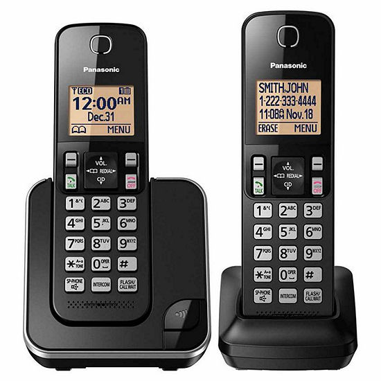 f2b05bfdac9 Panasonic KX TGC352B DECT 60 Expandable Cordless Phone with 2 Handsets  JCPenney