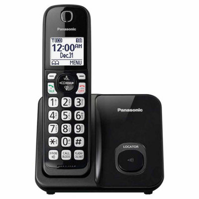 Panasonic KX-TGD510B DECT 6.0 Expandable Digital Cordless Phone with 1 Handset