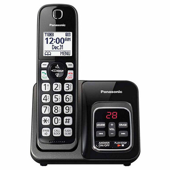 Panasonic KX-TGD530M DECT 6.0 Expandable Cordless Phone with Call Block and Answering Machine - 1 Handset