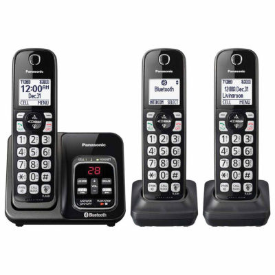Panasonic KX-TGD563M Link2Cell Bluetooth Cordless Phone with Answering Machine - 3 Handsets