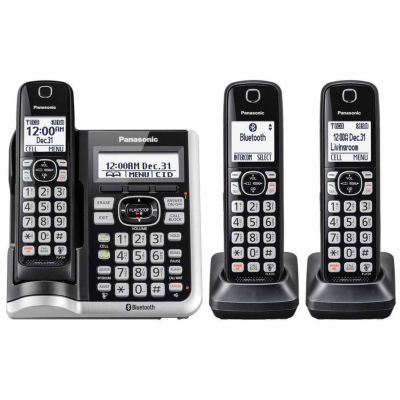 Panasonic KX-TGF573S Link2Cell Bluetooth Cordless Phone with Answering Machine - 3 Handsets