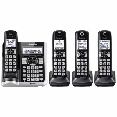 Panasonic KX-TGF574S Link2Cell Bluetooth Cordless Phone with Answering Machine - 4 Handsets