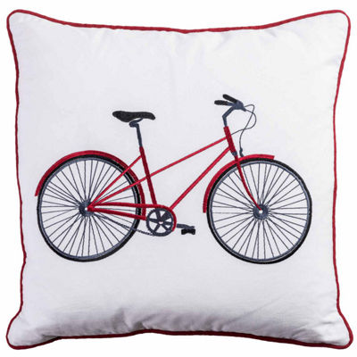 Rizzy Home Zachary Bicycle Decorative Pillow