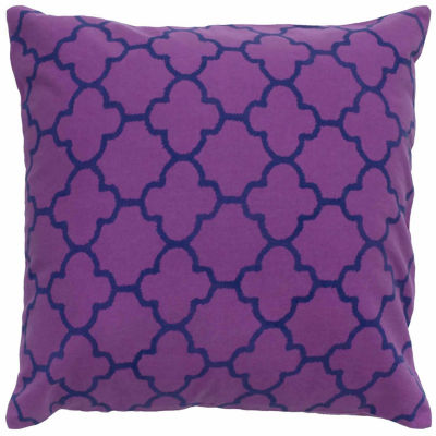 Rizzy Home Owen Moroccan Tiles Pattern Printed Decorative Pillow