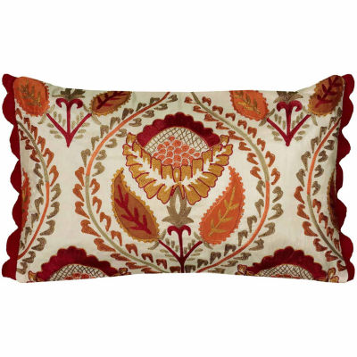 Rizzy Home Landon Floral Decorative Pillow
