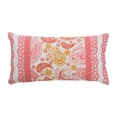 Rizzy Home Ezra Paisley Pattern Filled Pillow