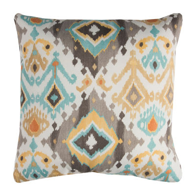 Rizzy Home Joshua Diamond Pattern Indoor Outdoor Filled Pillow