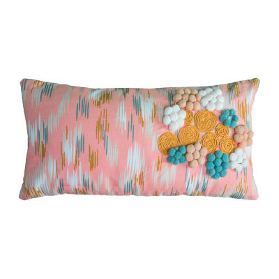 Rizzy Home Josiah Floral Pattern Filled Pillow
