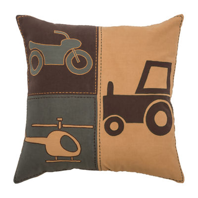 Rizzy Home Lincoln Novelty Pattern Filled Pillow