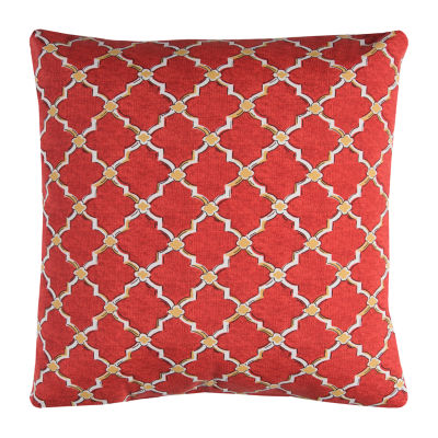 Rizzy Home Sebastian Geometric Pattern Indoor Outdoor Filled Pillow