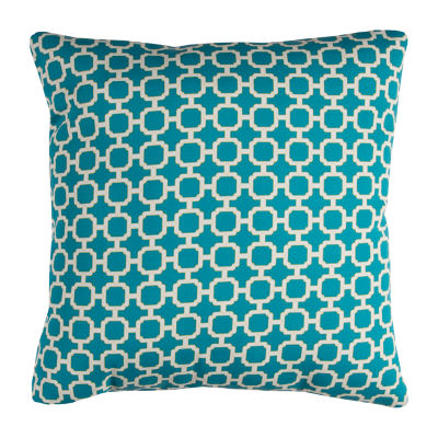 Rizzy Home Wyatt Geometric Pattern Indoor Outdoor Filled Pillow