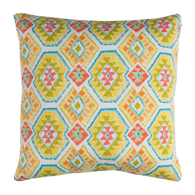 Rizzy Home Christopher Geometric Pattern Indoor Outdoor Filled Pillow