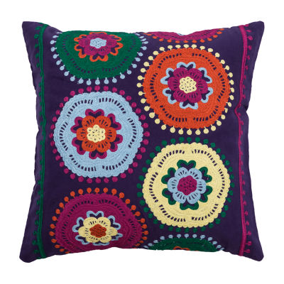 Rizzy Home Colton Medallions Pattern Filled Pillow